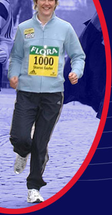 (C) London Marathon, press conference for Flora 1000 Mile Challenge, December 2002